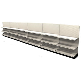 <strong>Used 24' wall section with base and 12 adjustable shelves</strong>