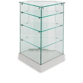 <strong>All Glass Corner Display - Visionary Series</strong>