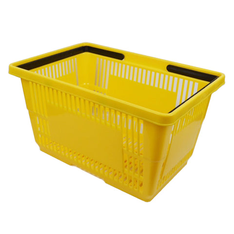 "PLASTIC SHOPPING BASKET 18"" L X 12"" W X 10"" H"