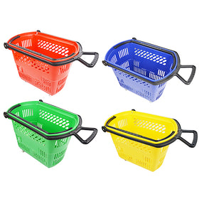 Shopping Basket on Wheels with Pull Handle
