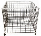 GRID DUMP BIN WITH CASTERS AND ADJUSTABLE SHELF - 36 x 36 x 30