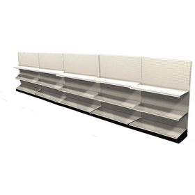 <strong>Used 20' wall section with base and 10 adjustable shelves</strong>