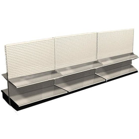 12' Long Display Shelving Row Double Sided