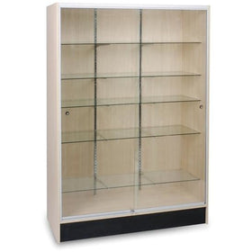 Panel Side Wall Case Display Cabinet 4' Wide - CHERRY FINISH ONLY