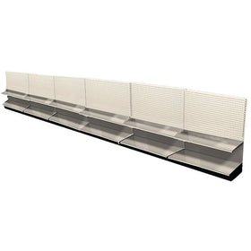 <strong>Used 24' wall section with base and 6 adjustable shelves</strong>