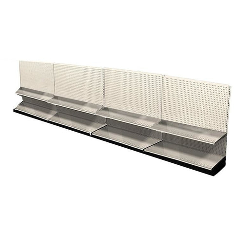 <strong>Used 16' wall section with base and 4 adjustable shelves</strong>