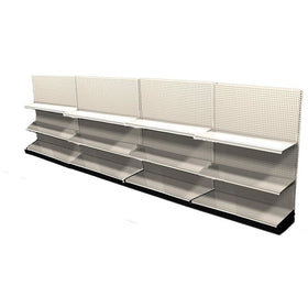 <strong>Used 16' wall section with base and 8 adjustable shelves</strong>