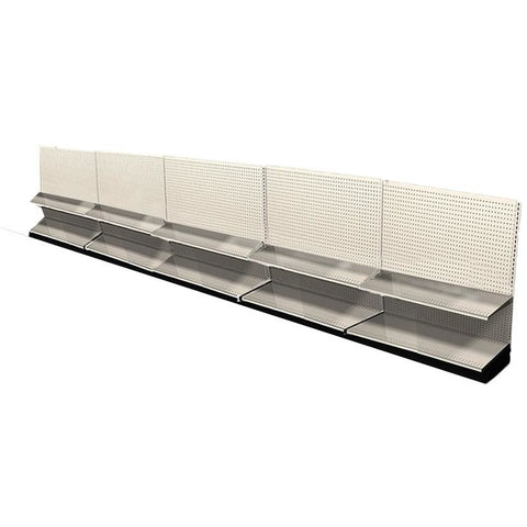 <strong>Used 20' wall section with base and 5 adjustable shelves</strong>