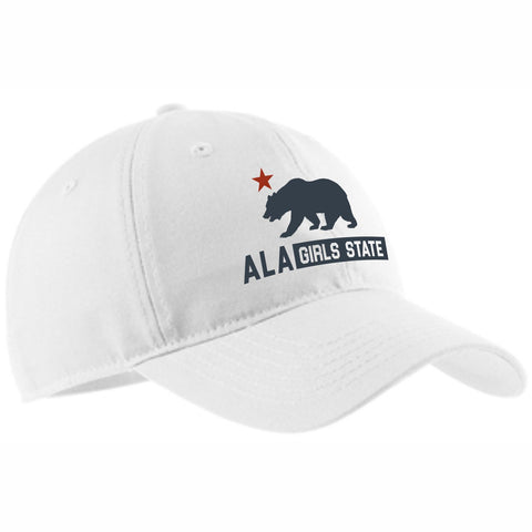 "Girls State ""California Bear"" White Cap"