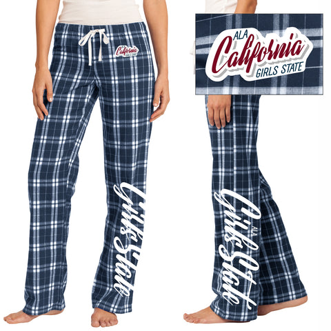 ALA California Girls State Flannel Plaid PJ Pant