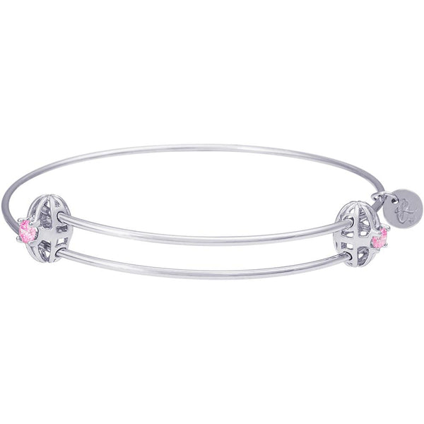 Rembrandt Charms, Graceful Birthstone Bangle