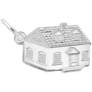 Rembrandt Charms, Colonial House, Engravable