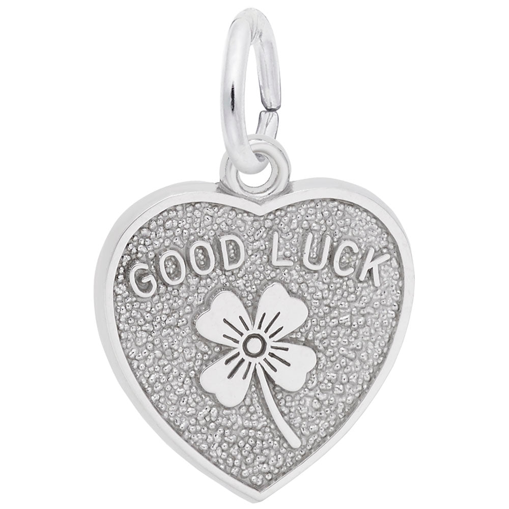 Rembrandt Charms, Good Luck Heart, Engravable