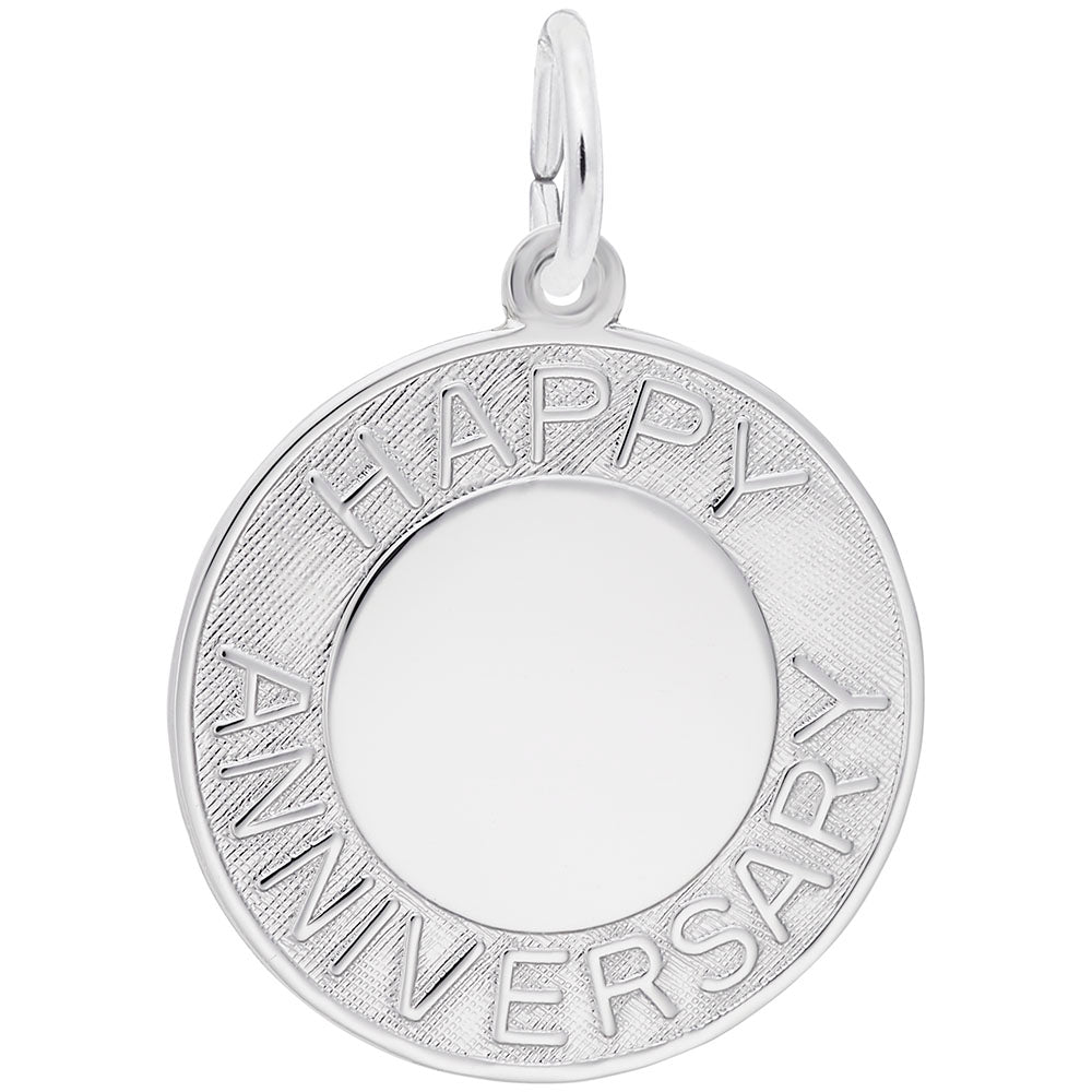 Rembrandt Charms, Happy Anniversary, Engravable