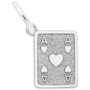 Rembrandt Charms, Ace of Hearts, Engravable