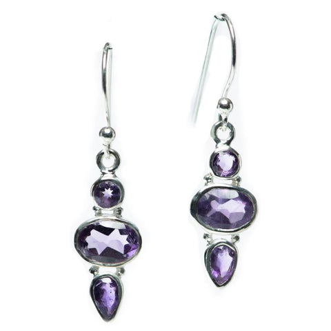 Elegance Earrings, Amethyst-Earring-teklaestelle-teklaestelle