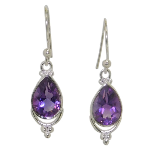 Echo Earrings, Amethyst