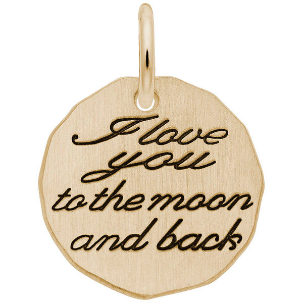 Rembrandt Charms, Moon & Back, Engravable