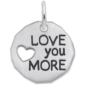 Rembrandt Charms, Love You More, Engravable