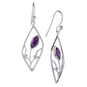 Seedling Earrings, Amethyst-Earring-teklaestelle-teklaestelle