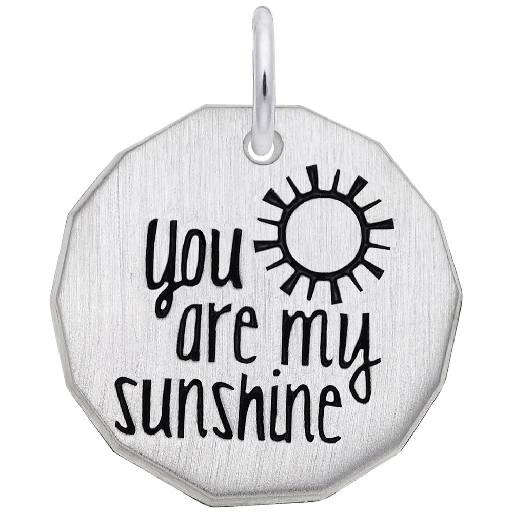 Rembrandt Charms, You Are My Sunshine, Engravable