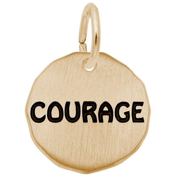 Rembrandt Charms, Courage, Engravable