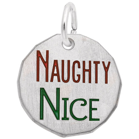Rembrandt Charms, Naughty / Nice, Engravable