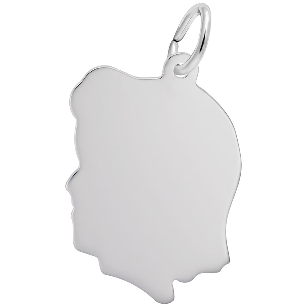 Girl Silhouette, Large, Engravable