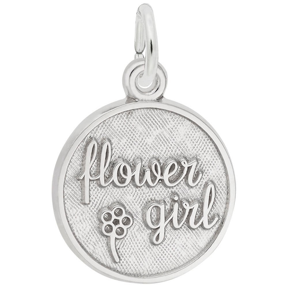 Rembrandt Charms, Flower Girl, Engravable