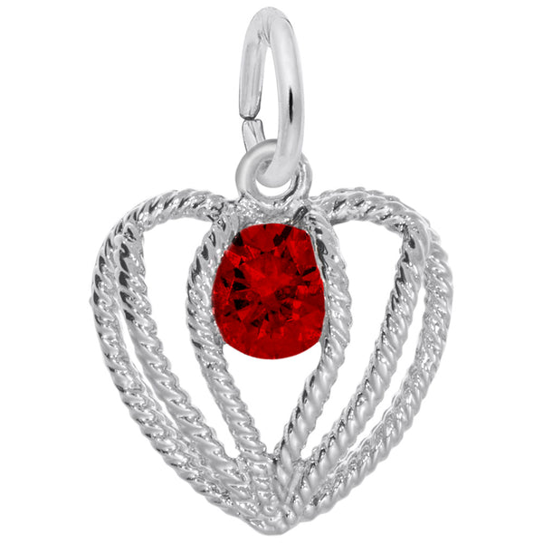 Held in Love Heart Birthstone