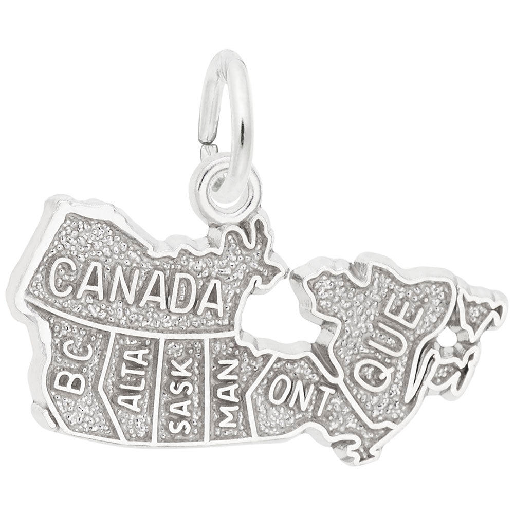 Rembrandt Charms, Canada Map, Engravable