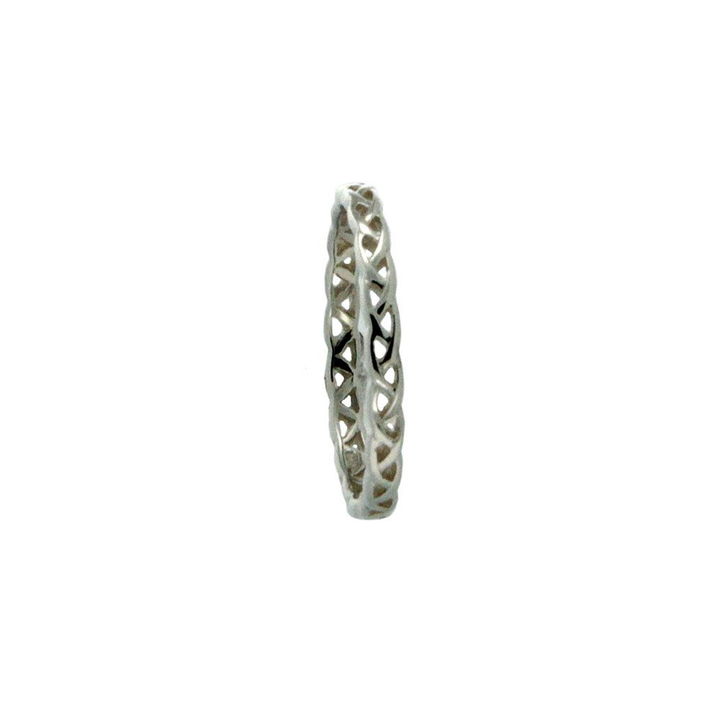 Weave Knot Tulla Ring, Sterling Silver