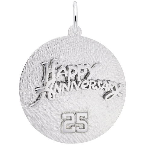 Rembrandt Charms, 25 Anniversary, Engravable
