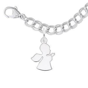 Rembrandt Charms, Guardian Angel Sterling Silver Bracelet Set, Engravable