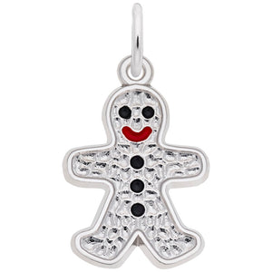 Rembrandt Charms, Gingerbread Man, Engravable