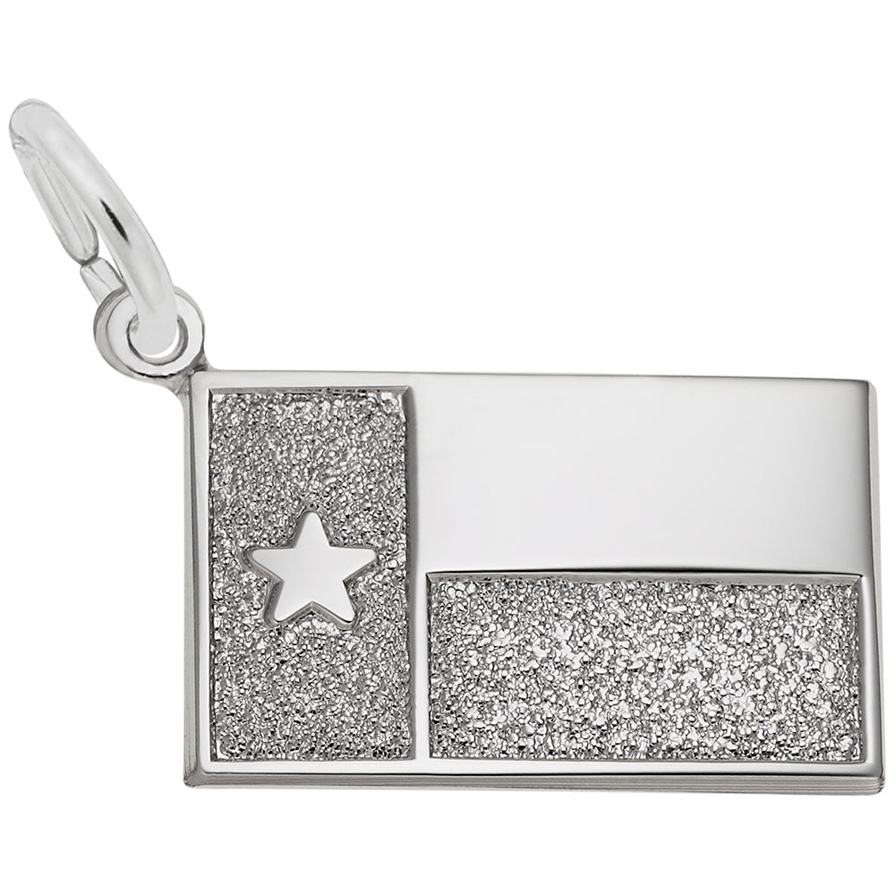 Rembrandt Charms, Texas Flag, Engravable