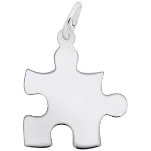 Rembrandt Charms, Autism Awareness / Puzzle Piece, Engravable