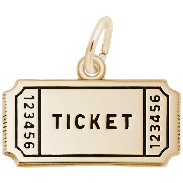 Rembrandt Charms, Raffle Ticket, Engravable