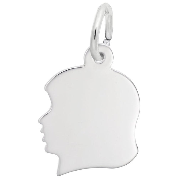 Young Girl's Silhouette, Engravable