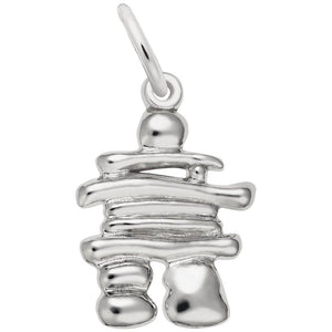 Rembrandt Charms, Large Inukshuk, Engravable