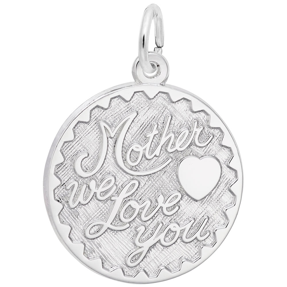 Rembrandt Charms, Mother We Love You, Engravable