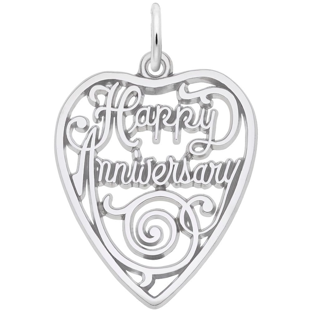 Rembrandt Charms, Happy Anniversary Heart