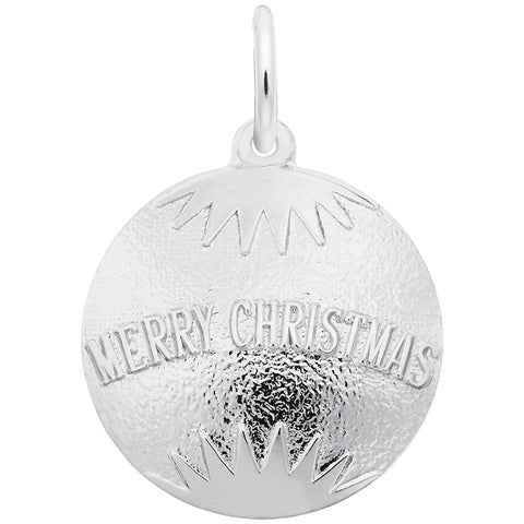 Merry Christmas Bulb Ornament, Engravable