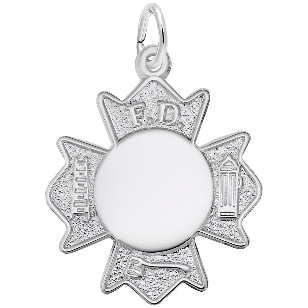 Rembrandt Charms, Fire Dept. Badge, Engravable
