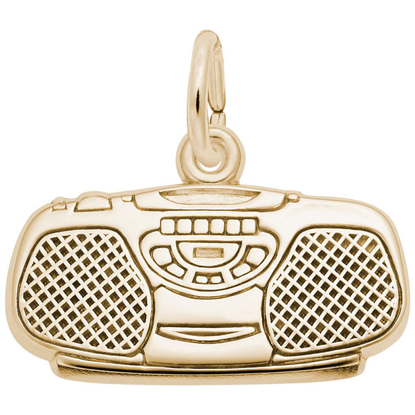 Rembrandt Charms, Boom Box, Engravable