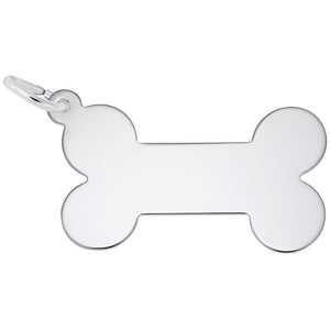 Rembrandt Charms, Dog Bone, Engravable