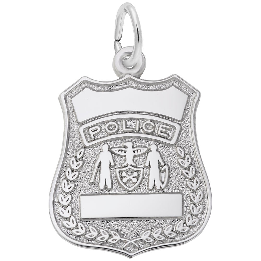 Rembrandt Charms, Police Badge, Engravable