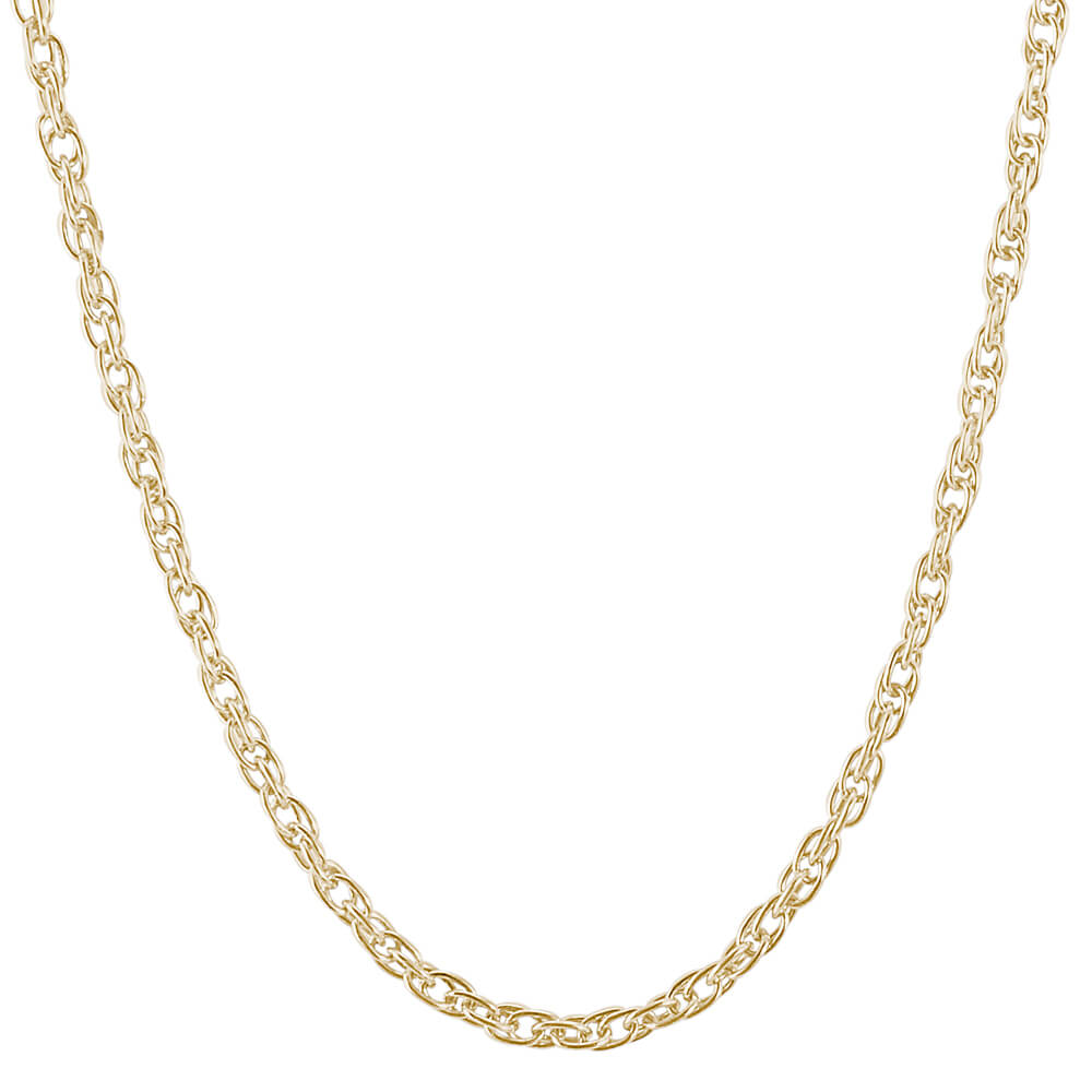 Rembrandt Charms, Gold Plate Rope Chain Necklace