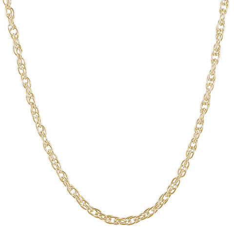 Gold Plate Rope Chain Necklace