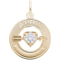 April / 22k Gold Plate on Silver